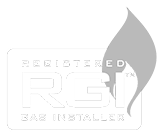 RGI Ireland Registered gas installer logo white