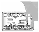 RGI Ireland Registered gas installer logo white